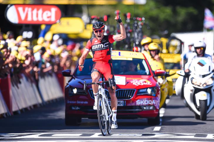 総合力に秀でたBMCレーシングチーム。ツール・ド・フランス2016第5ステージではグレッグ・ファンアフェルマート(ベルギー)がステージ優勝を果たしている