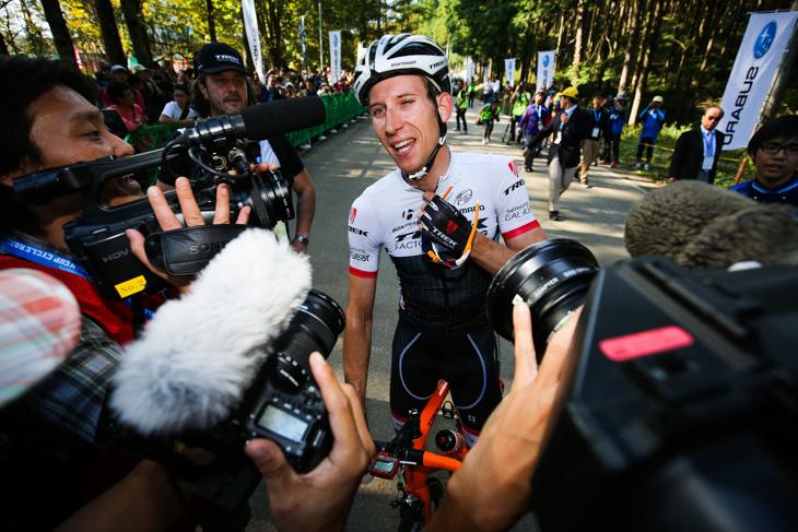2015ジャパンカップサイクルロードレースを制したバウケ・モレマ(オランダ)