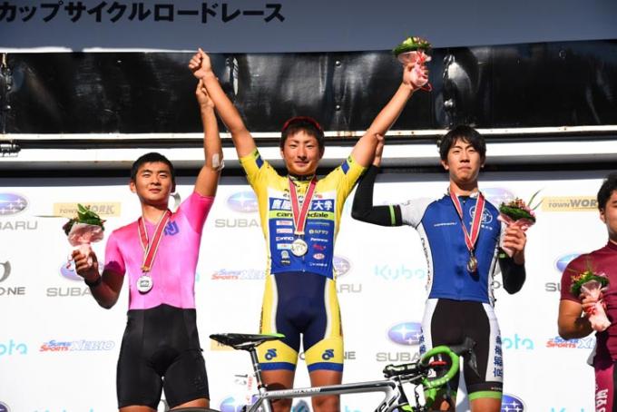オープン1組は1位山本大喜(鹿屋体育大学)、2位岡本隼(日本大学)、3位 中井唯晶(京都産業大学)