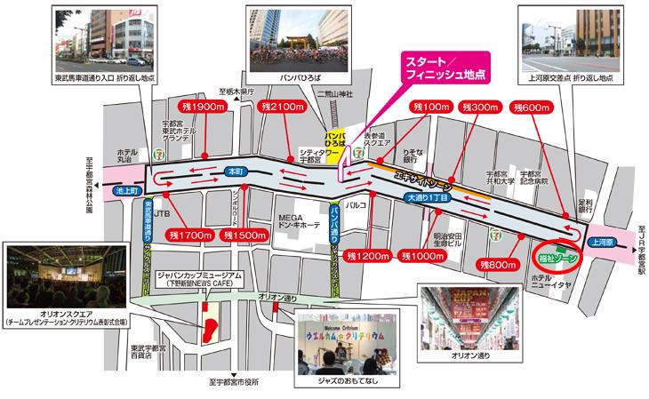 2016ジャパンカップクリテリウム コースマップ