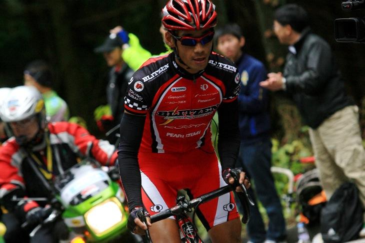 2009年ジャパンカップ、自身4度目の山岳賞を獲得した廣瀬佳正(宇都宮ブリッツェン)