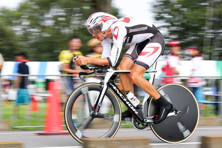 JBCFタイムトライアルチャンピオンシップ2016優勝のダミアン・モニエ(フランス、ブリヂストン・アンカー)