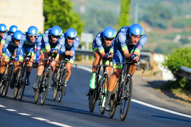 今季ツール開催前に自転車オンラインショップ「バイクエクスチェンジ」がスポンサーに加わったオリカ・バイクエクスチェンジ