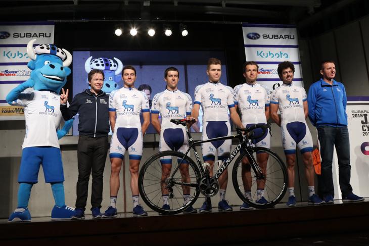 昨年のチームプレゼンテーションに登壇したチーム ノボ ノルディスクの選手達