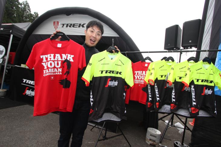 トレック・セガフレードが着るジャパンカップ特別チームキットなども販売中