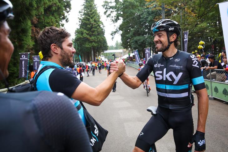 現役最終レースを終えたシャビエル・ザンディオ(スペイン、チームスカイ)