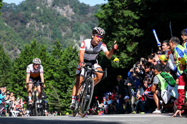 6周目の山岳賞は井上和郎(ブリヂストンアンカーサイクリングチーム)が獲得