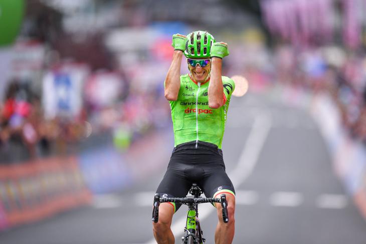ジロ・デ・イタリア2017の第17ステージで独走勝利を果たしたピエール・ロラン(フランス、キャノンデール・ドラパック)