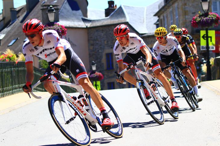 ツール・ド・フランス2017第15ステージで勝利を挙げたバウケ・モレマ(オランダ、トレック・セガフレード)