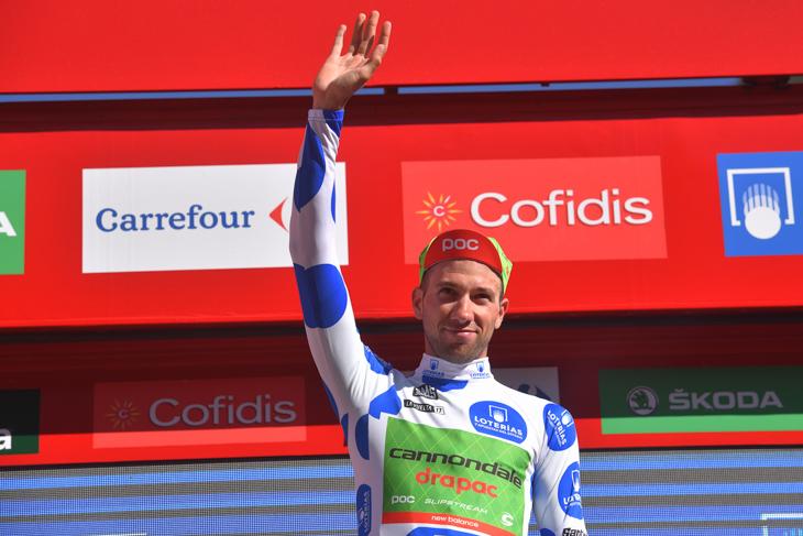 ブエルタ・ア・エスパーニャでマイヨモンターニャ(山岳賞)を獲得した、昨年覇者のダヴィデ・ヴィッレッラ(イタリア、キャノンデール・ドラパック)