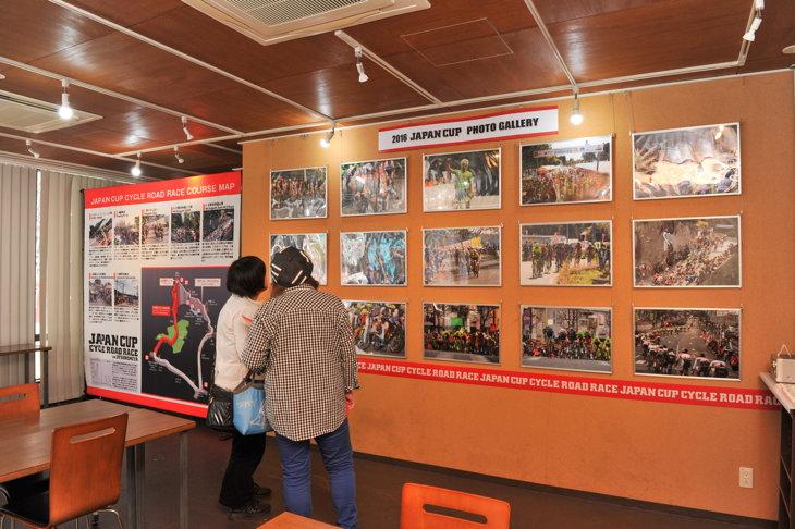 昨年のジャパンカップのフォトギャラリーが設置されたジャパンカップミュージアム