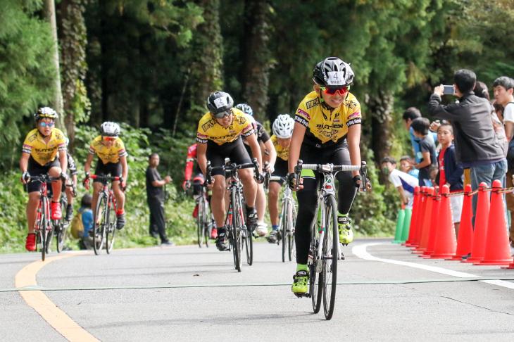 6名の集団から抜け出し、優勝した長島慧明(ブリッツェンステラ)