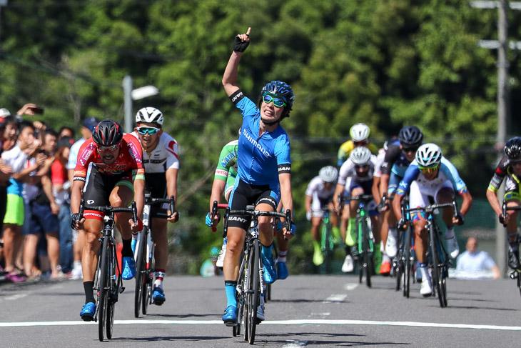 ツール・ド・熊野では自身初のUCIレース勝利をおさめた入部正太朗