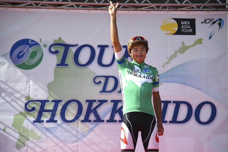ツール・ド・北海道の第1ステージで優勝した鈴木龍