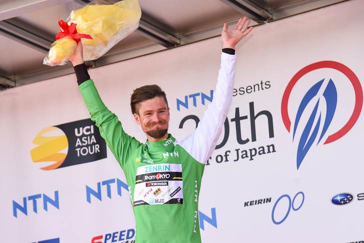 ツアー・オブ・ジャパン3連覇を果たしたオスカル・プジョル・ムニョス(スペイン、チーム右京)