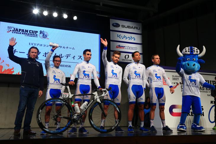 1型糖尿病患者選手で構成されたチーム ノボ ノルディスク
