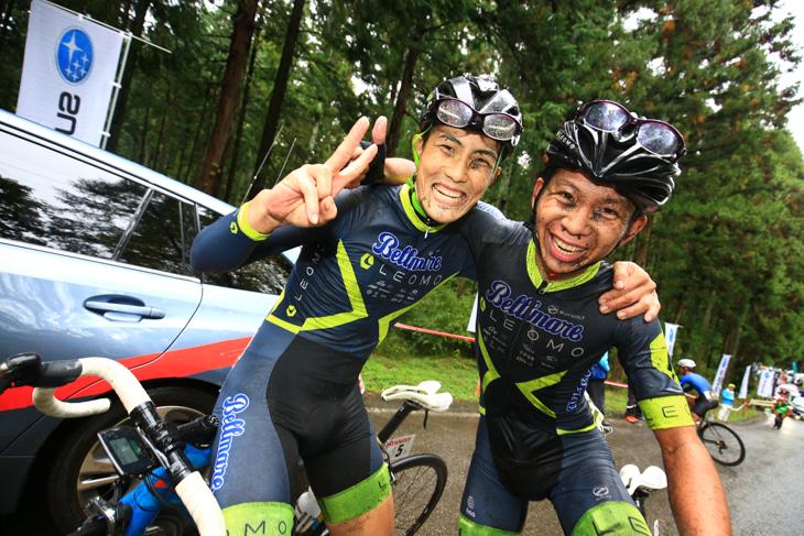 チームワークで勝利を掴んだLEOMOベルマーレ。左が横塚浩平、右は米谷隆志