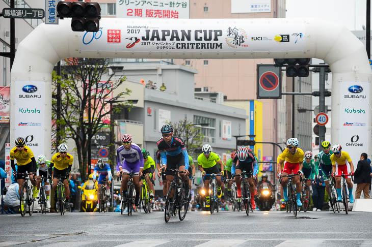 地元栃木県の高校生を中心に24人が出走したホープフルクリテリウム