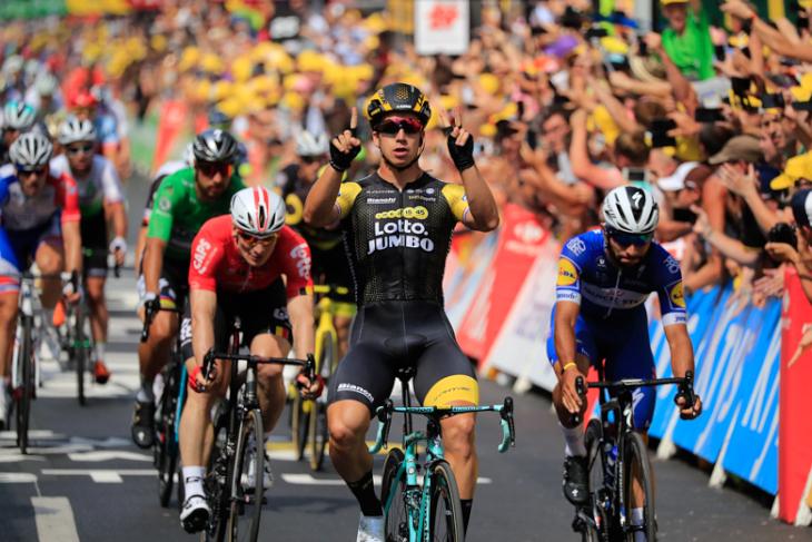 ツール・ド・フランスでステージ2勝を挙げたディラン・フルーネウェーヘン(オランダ)