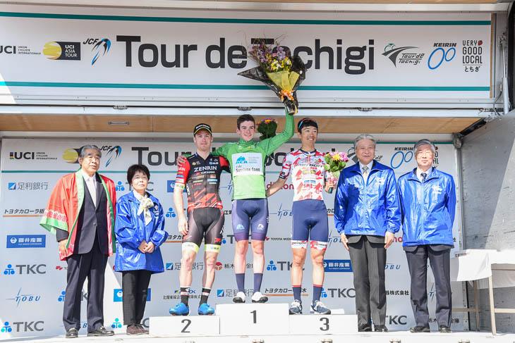 ツール・ド・とちぎで総合優勝を果たしたマイケル・ポッター(オーストラリア)