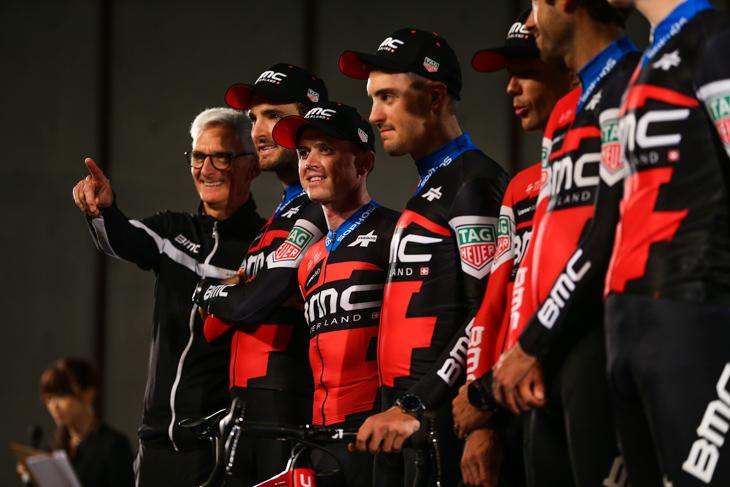 引退前の最終レースを迎えたサイモン・ゲランス(オーストラリア、BMCレーシング)