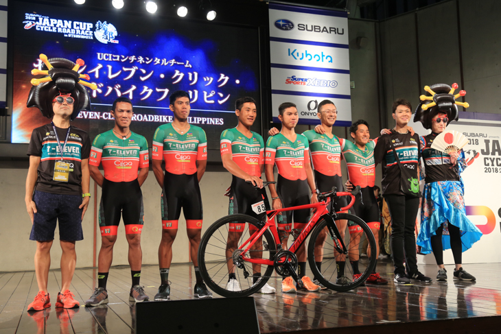金子大介と岡泰誠という日本人選手2人が所属するセブンイレブン・クリック・ロードバイクフィリピン