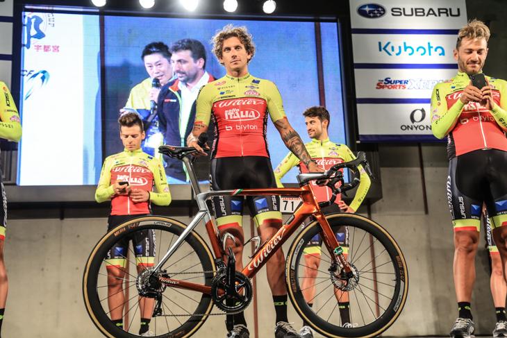 キャリア3度目の日本レースとなるフィリッポ・ポッツァート(イタリア、ウィリエール・トリエスティーナ - セッレ・イタリア)