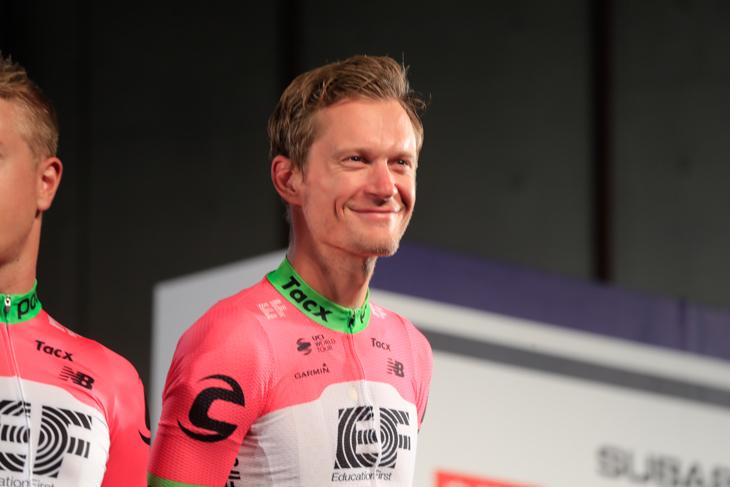 優勝候補の一人マッティ・ブレシェル (デンマーク、EFエデュケーションファースト・ドラパック)