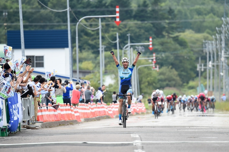 ツール・ド・北海道でステージ優勝を果たしたステフェン・バセット(アメリカ)
