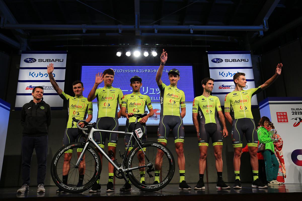 ベルギーのプロコンチネンタルチーム、ワロニー・ブリュッセルが初来日