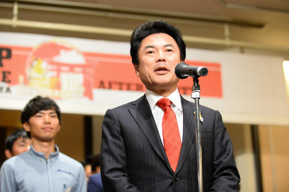 「来年もジャパンカップをもっと盛り上げたい」と宇都宮市の佐藤市長