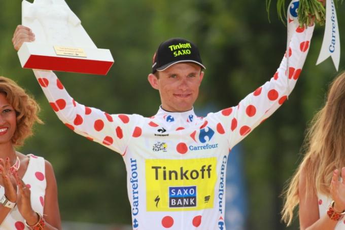 ツール・ド・フランス2014で山岳賞を獲得したラファル・マイカ(ポーランド、ティンコフ・サクソ)