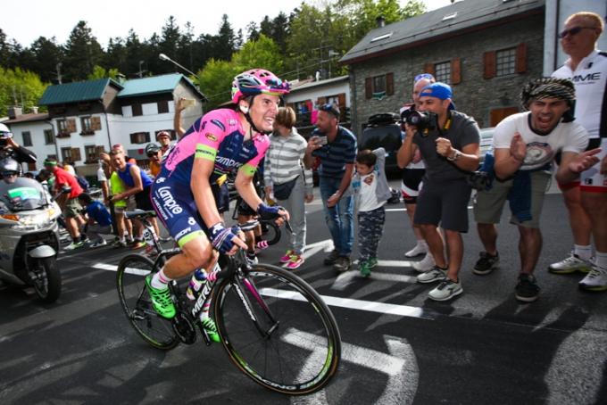 ジロ・デ・イタリア2015第5ステージで独走勝利を決めたヤン・ポランク(スロベニア、ランプレ・メリダ)