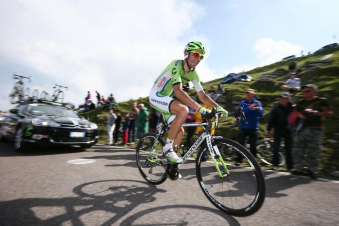 2012年ジャパンカップ覇者のイヴァン・バッソ(イタリア、キャノンデール・プロサイクリング)