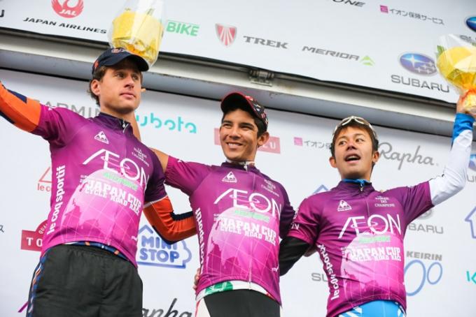 山岳賞はマティアス・フリードマン(ドイツ、チャンピオンシステム)、ルイスエンリケ・ダヴィラ(メキシコ、ジェリーベリー)、吉田隼人(シマノレーシング)が獲得