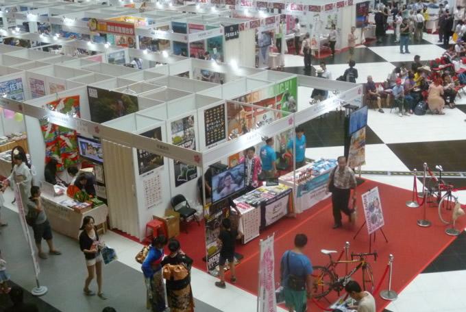 国内59の自治体や団体が出展した「日本の観光の物産博」