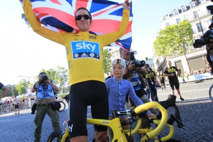 ツール・ド・フランス2012覇者ブラドレー・ウィギンズ(イギリス、スカイプロサイクリング)