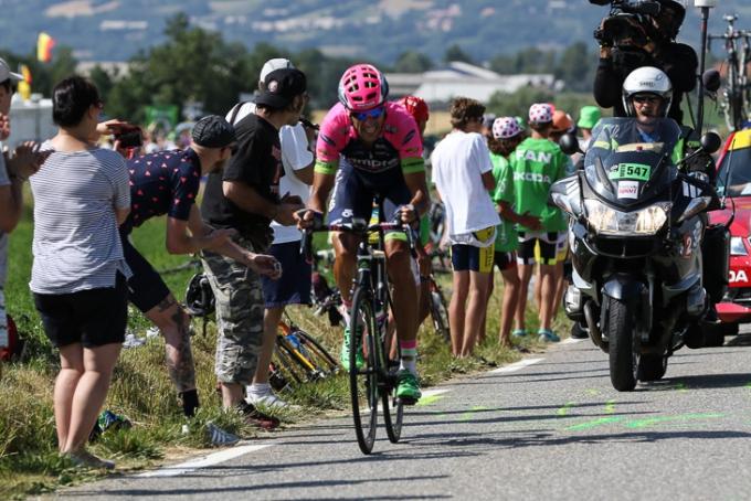 ツール・ド・フランス2015第16ステージで勝利したルーベン・プラサ(スペイン)らが所属するランプレ・メリダ