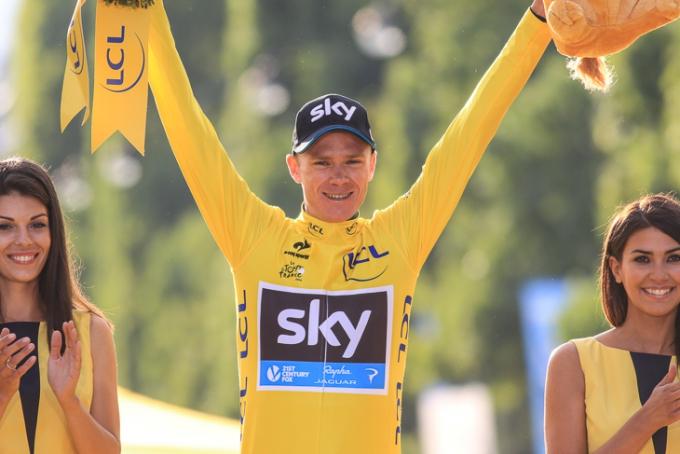 ツール・ド・フランス2015で総合2勝目を遂げたクリス・フルーム(イギリス)