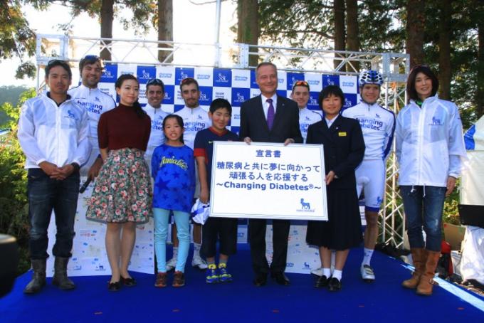 1型糖尿病の選手からなる「チームノボ ノルディスク」を迎えたトークイベント