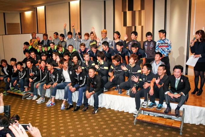 国内チームと日本ナショナルチームメンバーが勢ぞろい