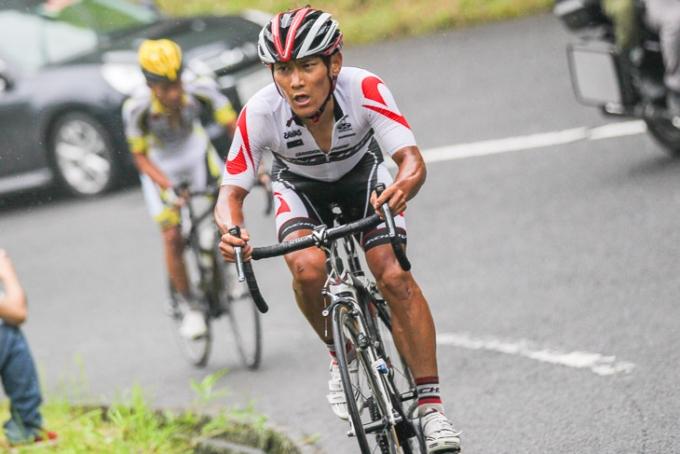 ツール・アルザス山岳賞獲得など欧州レースでも成績を挙げている清水都貴(日本、チームブリヂストン・アンカー)